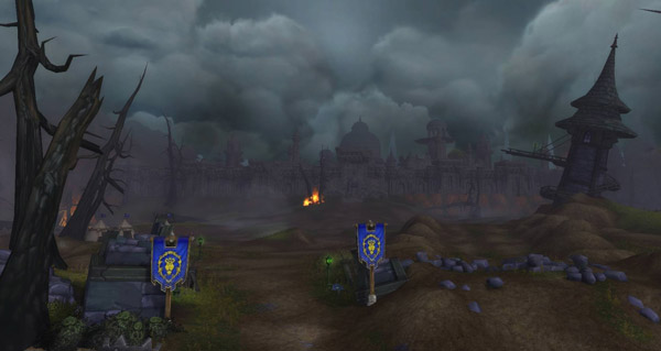 battle for azeroth : une image de lordaeron apres la bataille