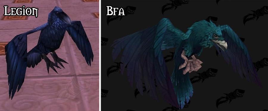 Refonte du modèle pour le corbeau à Battle for Azeroth