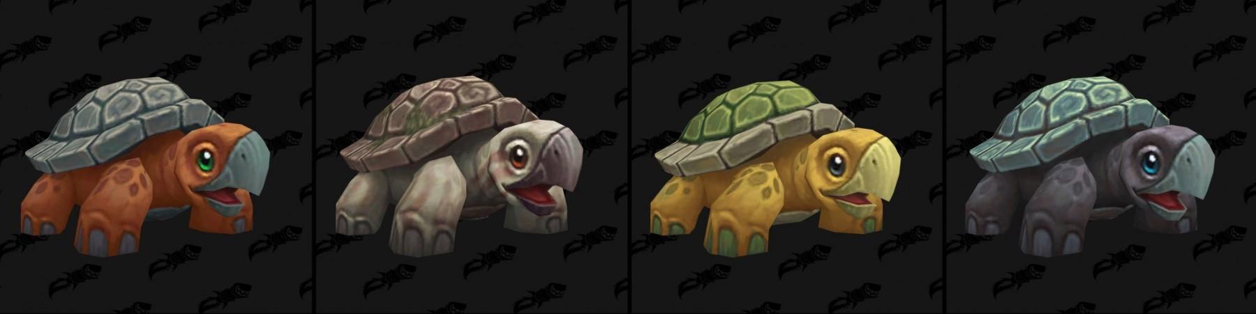 Les différents coloris des modèles de tortues - Battle for Azeroth