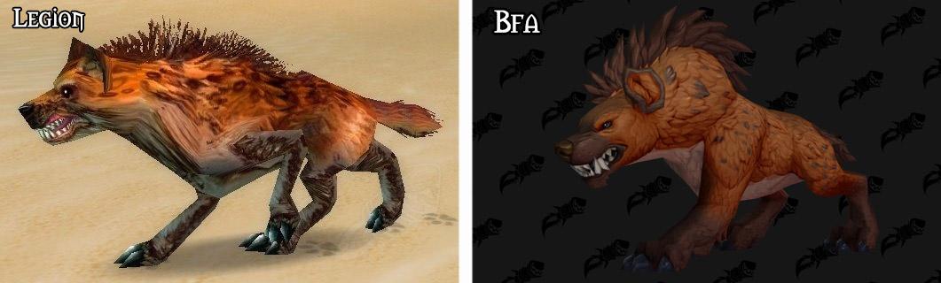Refonte du modèle pour la hyène à Battle for Azeroth
