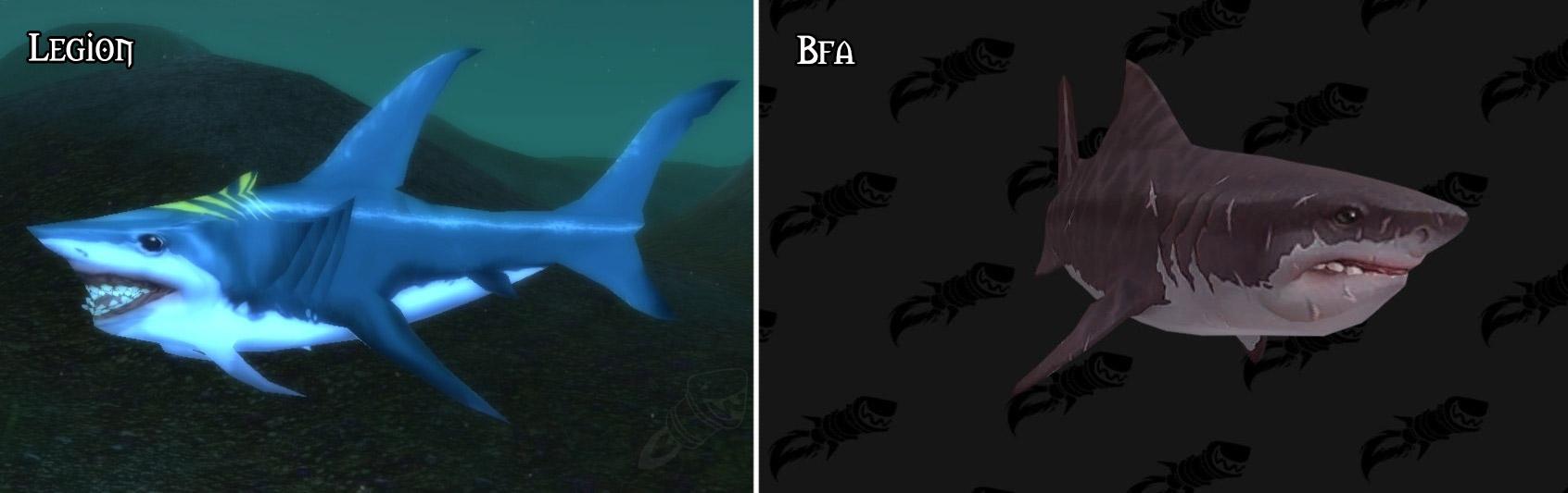 Refonte du modèle pour le requin à Battle for Azeroth