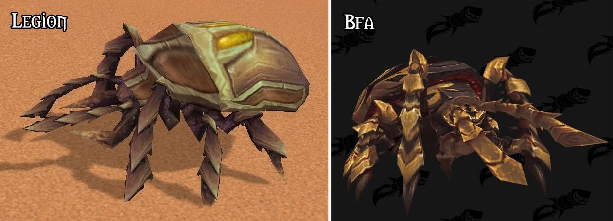 Refonte du modèle pour le scarabée silithide à Battle for Azeroth