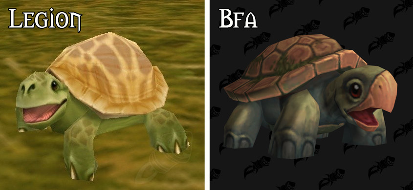 Refonte du modèle des tortues à Battle for Azeroth