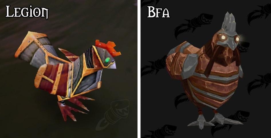 Refonte du modèle pour le poulet mécanique à Battle for Azeroth