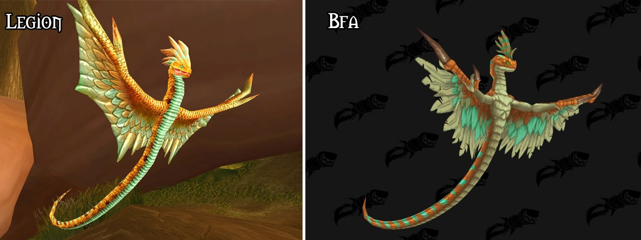 Refonte du modèle pour le serpent des vents à Battle for Azeroth