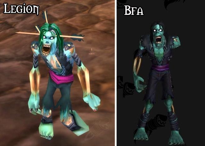 Refonte du modèle pour le zombie à Battle for Azeroth