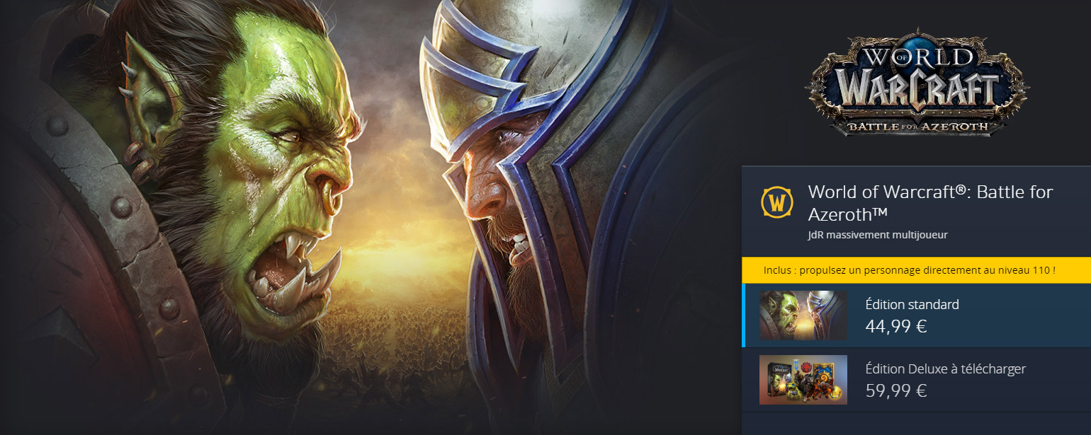 Le préachat de Battle for Azeroth est disponible sur la boutique Blizzard