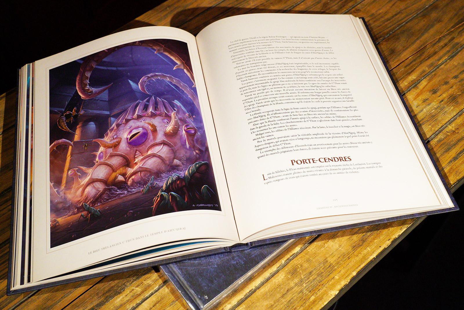 L'ouvrage dépeint les événements les plus récents de World of Warcraft comme l'avénement de C'thun