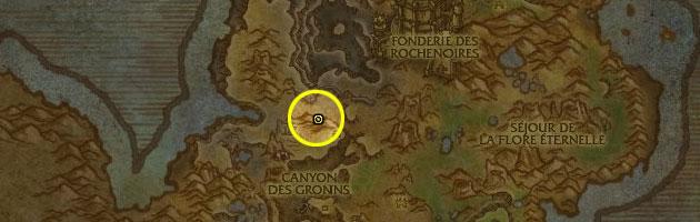 Emplacement de la taupe mécanique à Gorgrond