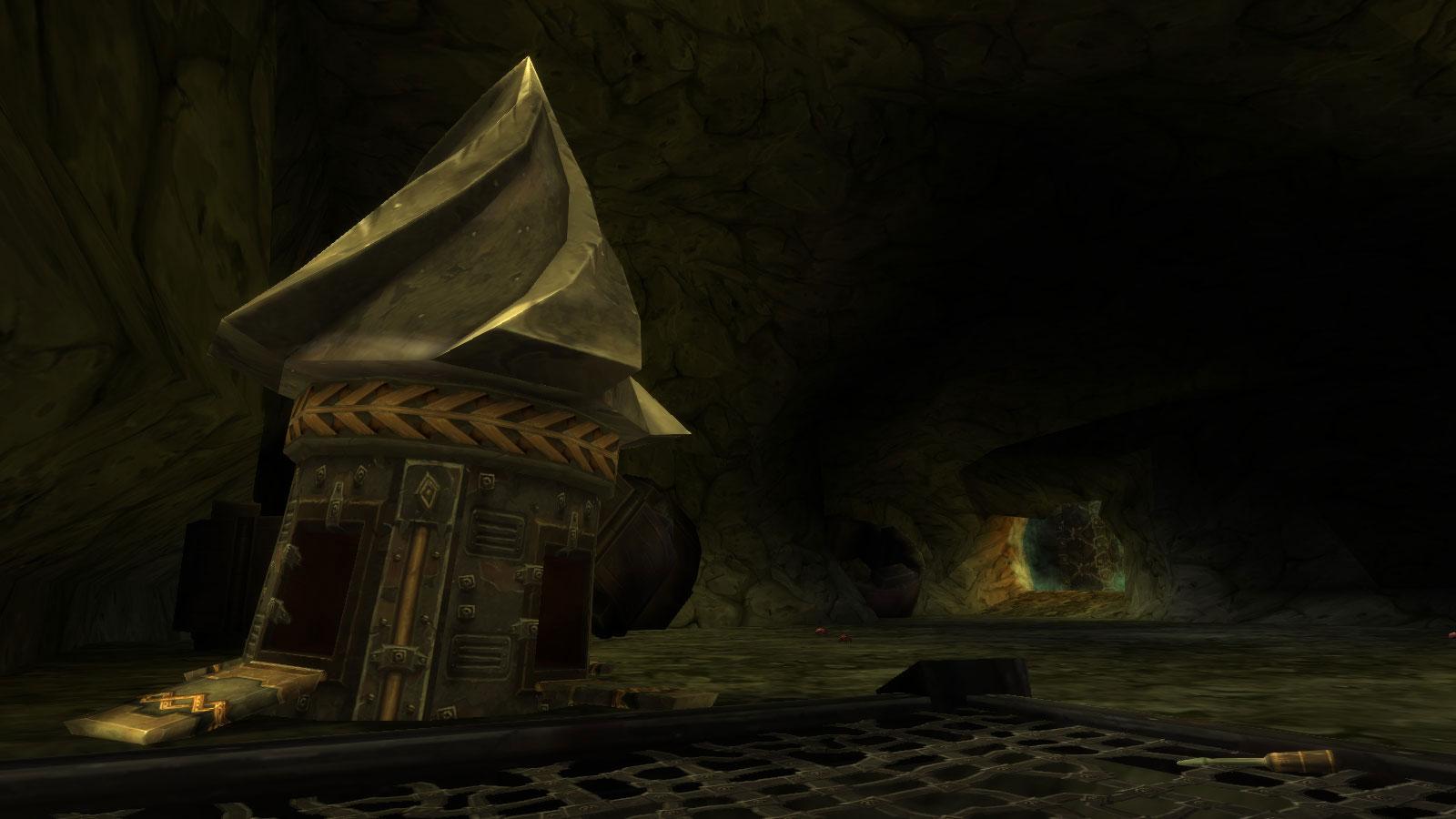 La taupe mécanique se situe aux portes du donjon Profondeurs de Rochenoire