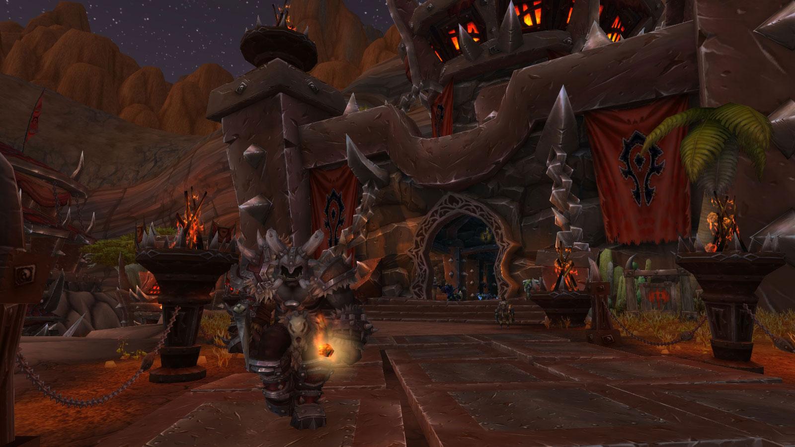 Le Hall des braves est l'avant-poste des Orcs Mag'har