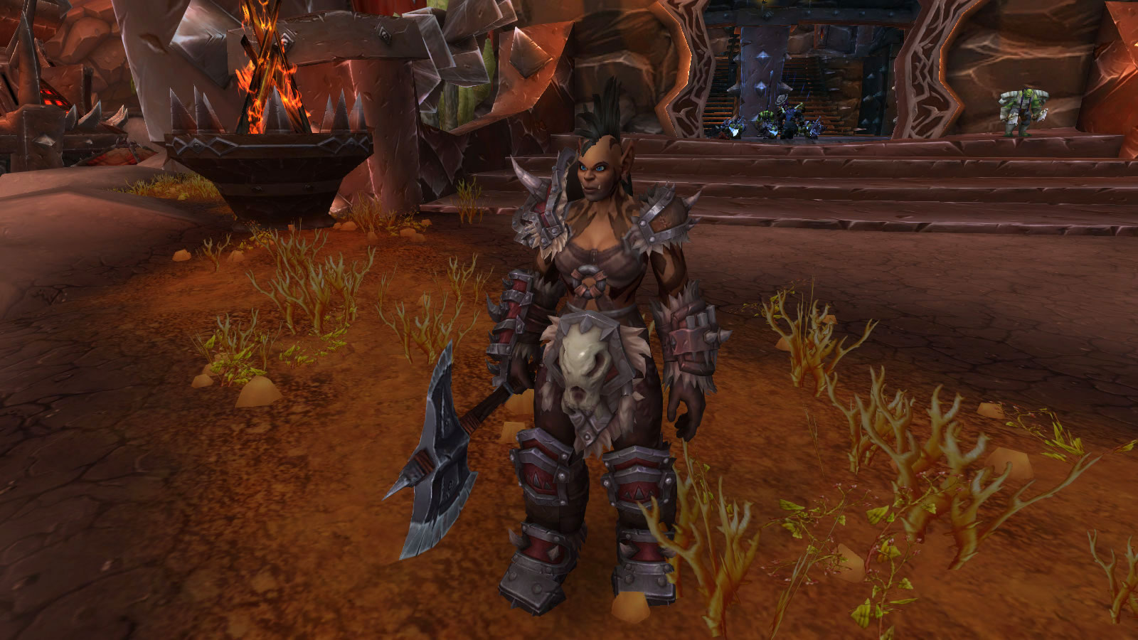 Commandant Geya'rah à l'avant-poste des Orcs Mag'har