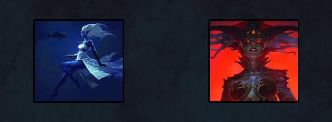 Images d'Ashara avant et après sa transformation en Naga