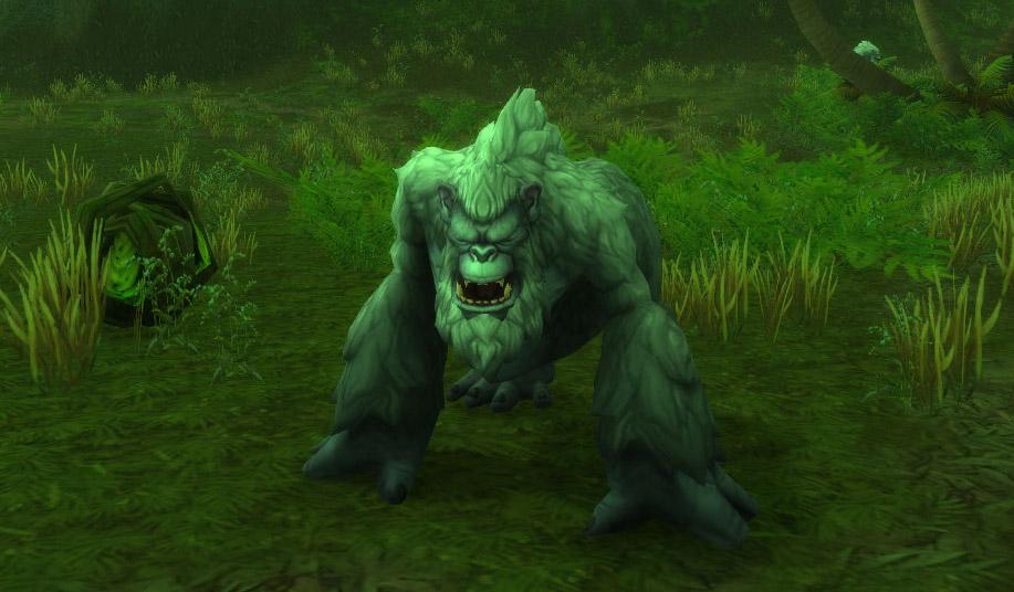 Modèle de gorille au patch 8.0