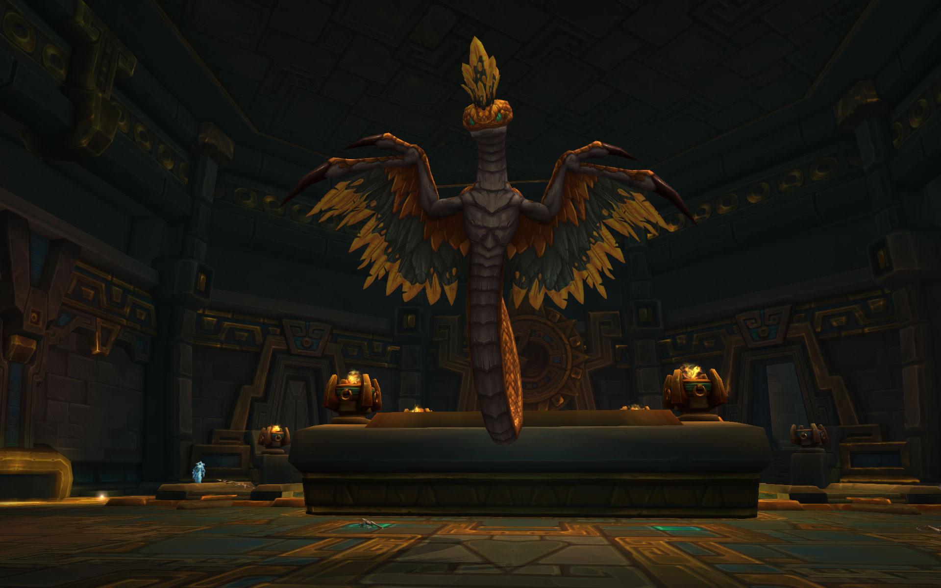 Le serpent doré veille sur les salles du Repos des rois