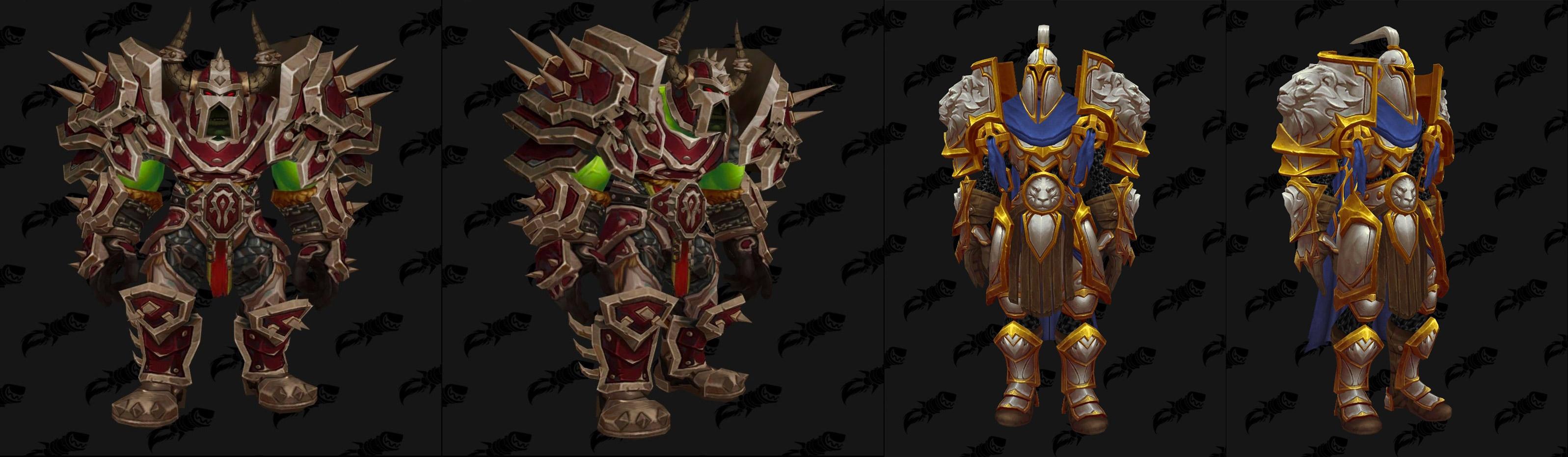 Les fronts de guerre permettent d'obtenir des armures uniques aux couleurs des factions