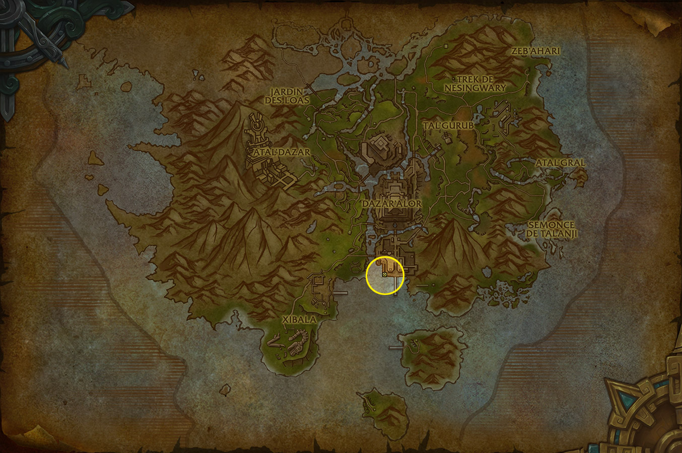 Emplacement du Capitaine Zuldazar