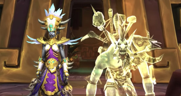 talanji et vol'jin : nouvelle cinematique in game battle for azeroth