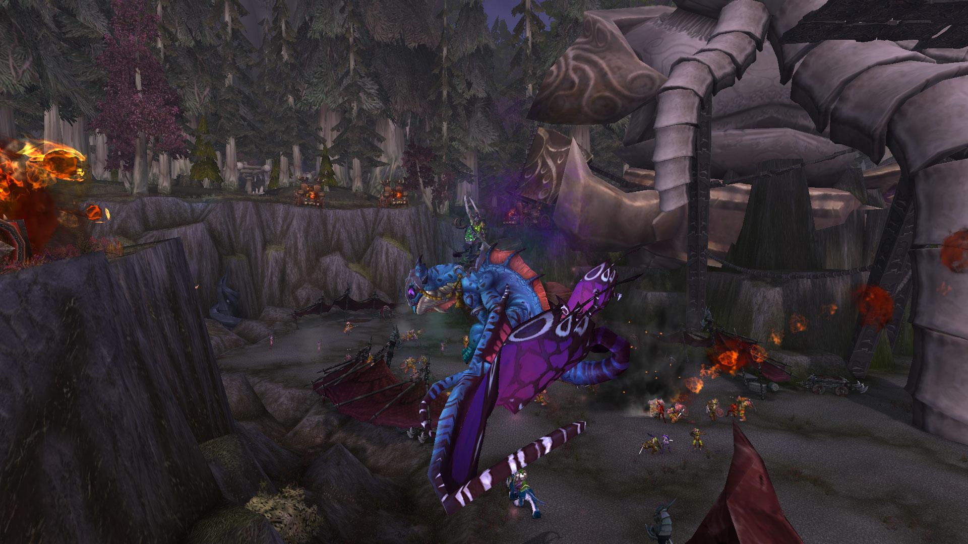 Les champions attaquent la Horde avec un dragon-faë enchanté