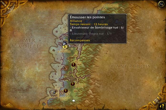 Des expéditions pour l'Alliance à Sombrivage