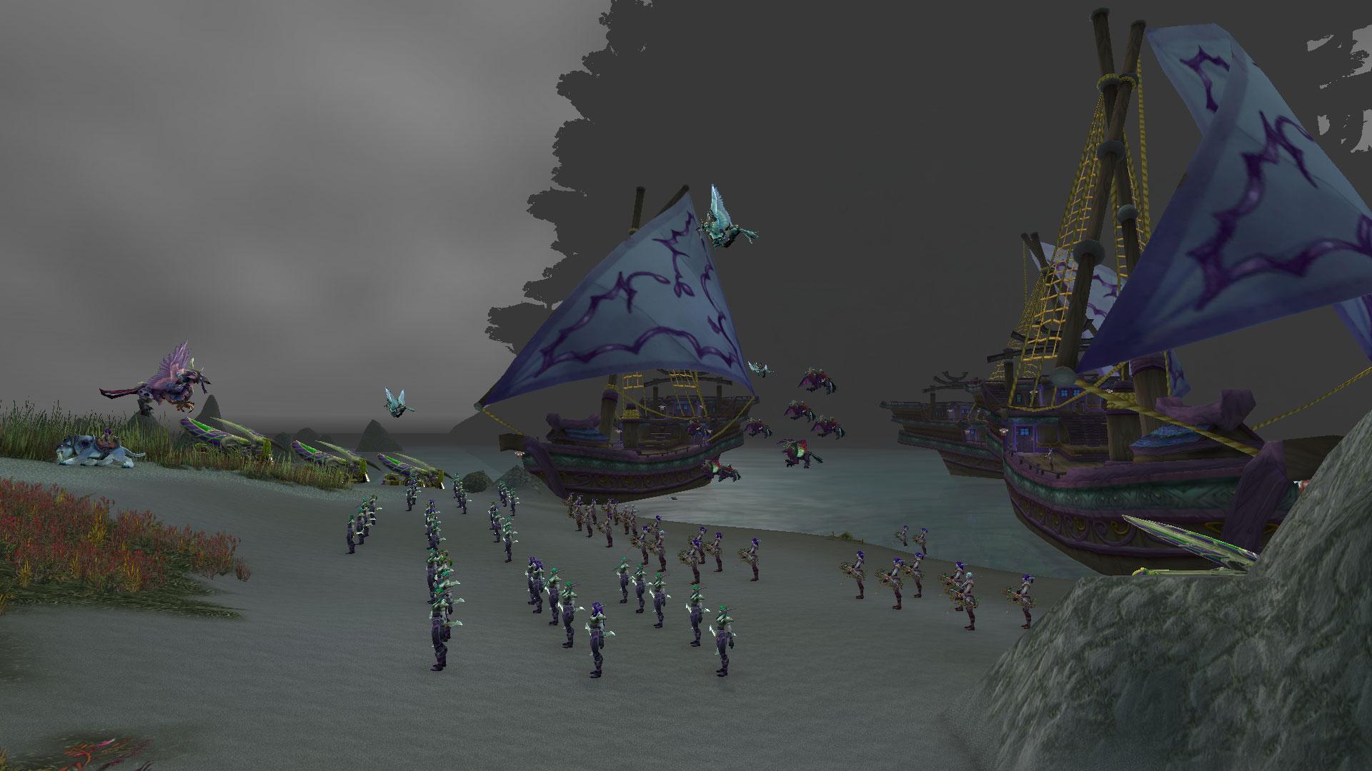 La flotte des Elfes de la nuit est revenue