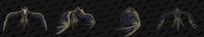 Forme de vol du Druide Humain de Kul Tiras - coloris noir