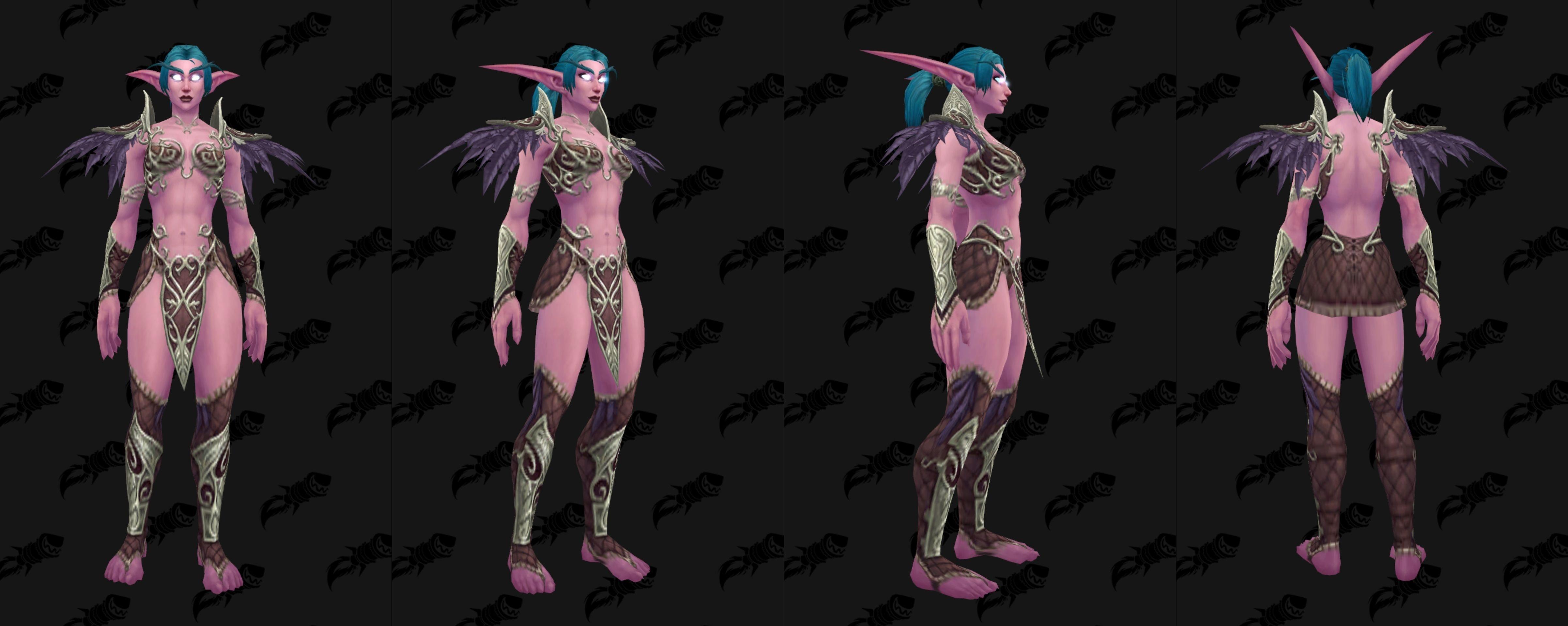 Nouveau modèle d'armure PnJ archère Elfe de la nuit
