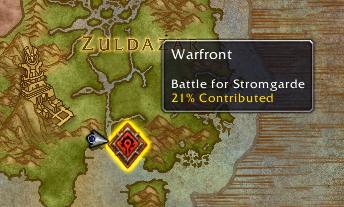 Contribution de la Horde (contrôle de l'Alliance)