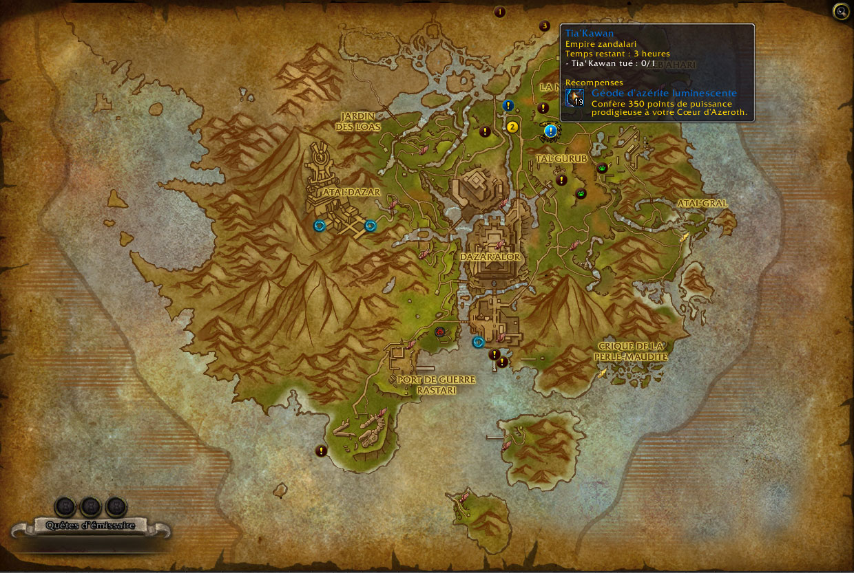 Exemple d'expéditions à Zuldazar pour l'Empire zandalari