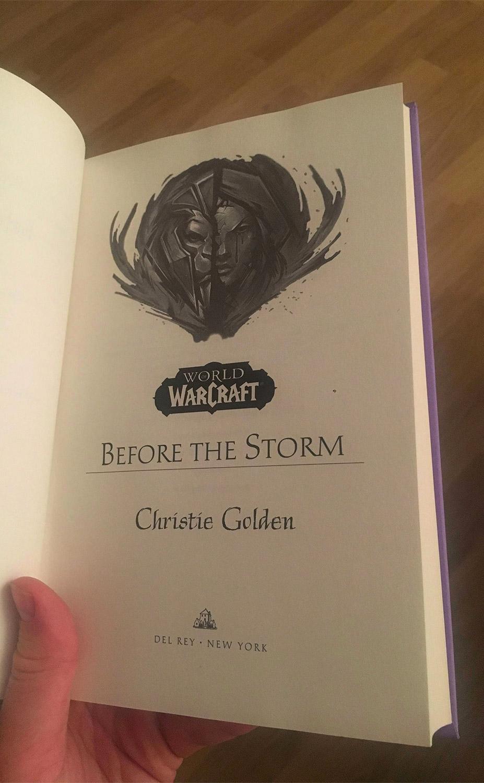 Première page du roman Avant la tempête