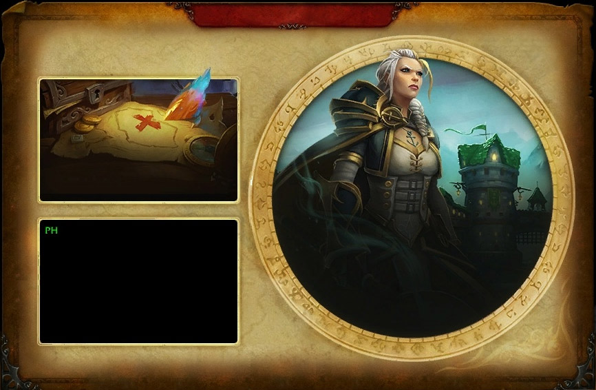 Écran d'accueil de Kul Tiras (Battle for Azeroth)