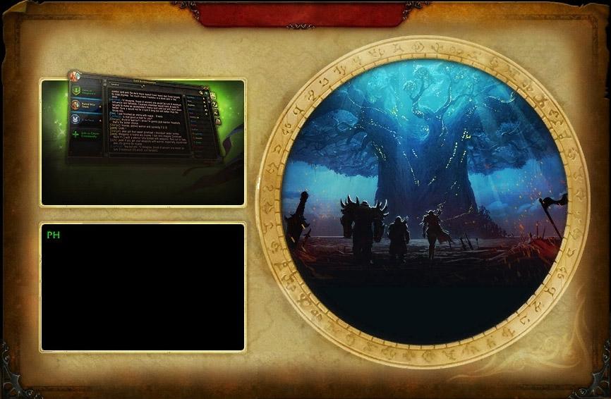 L'écran d'accueil du Patch 8.0