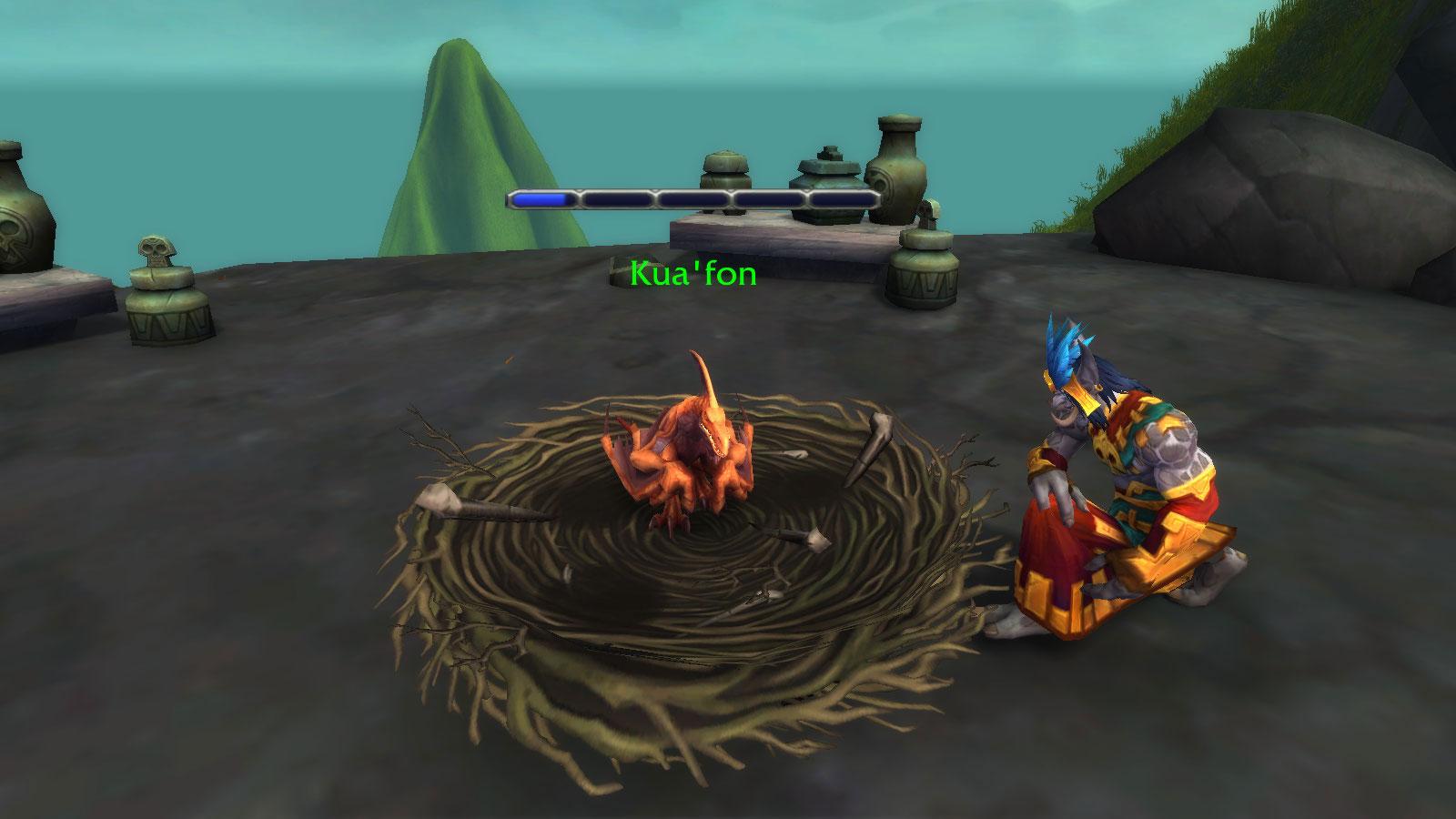 La barre de progression de Kua'fon se remplit