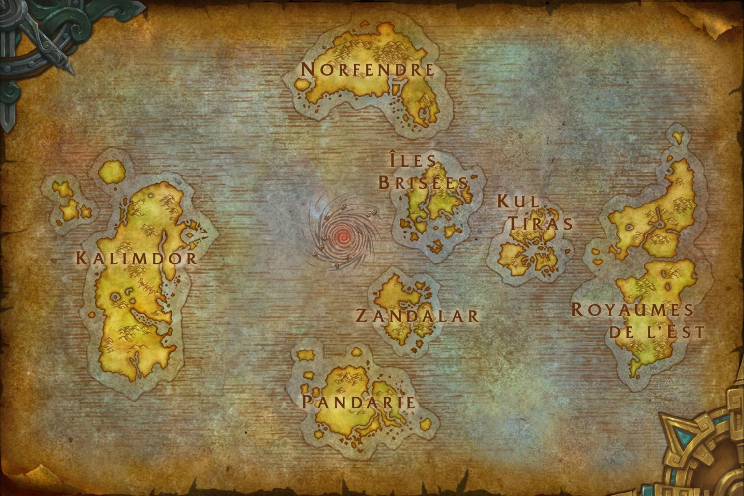 Nouvelle carte du monde d'Azeroth