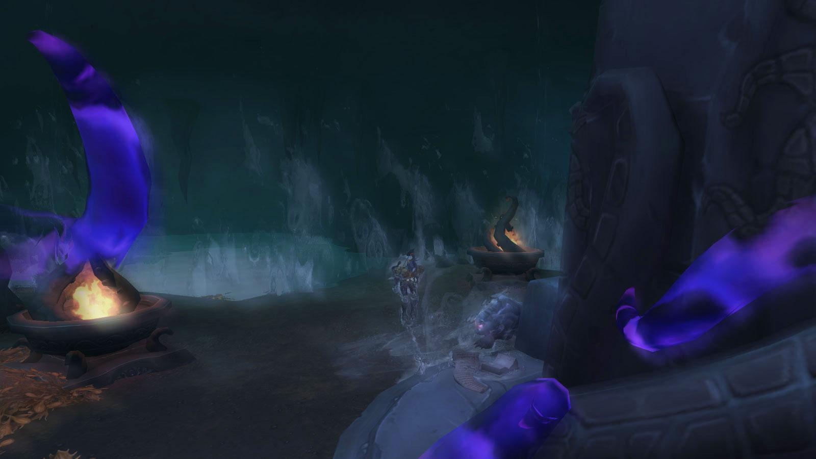Vous êtes immobilisé dans la grotte sous-marine