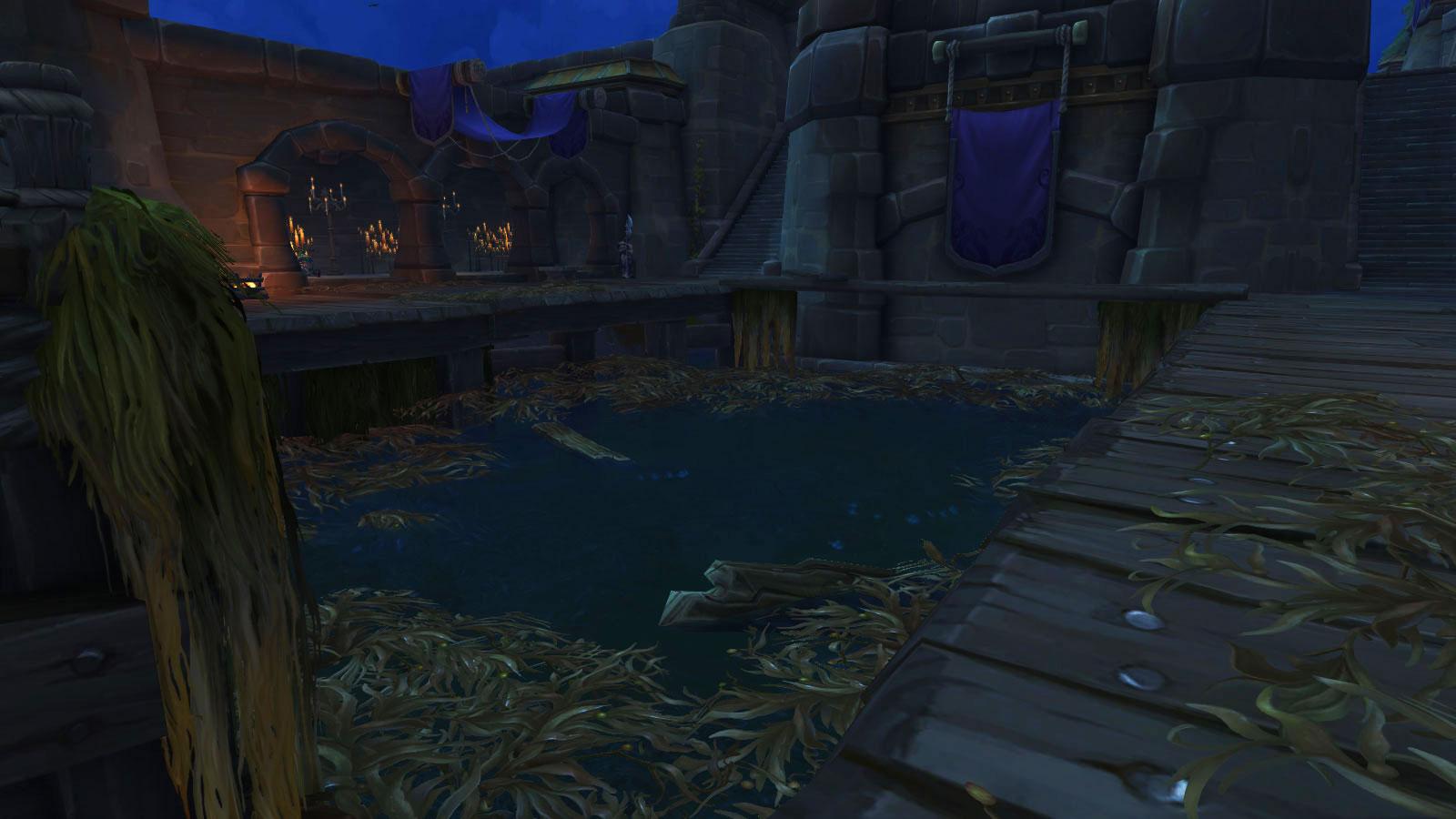 Plongez dans la fosse jusqu'à l'entrée de la grotte
