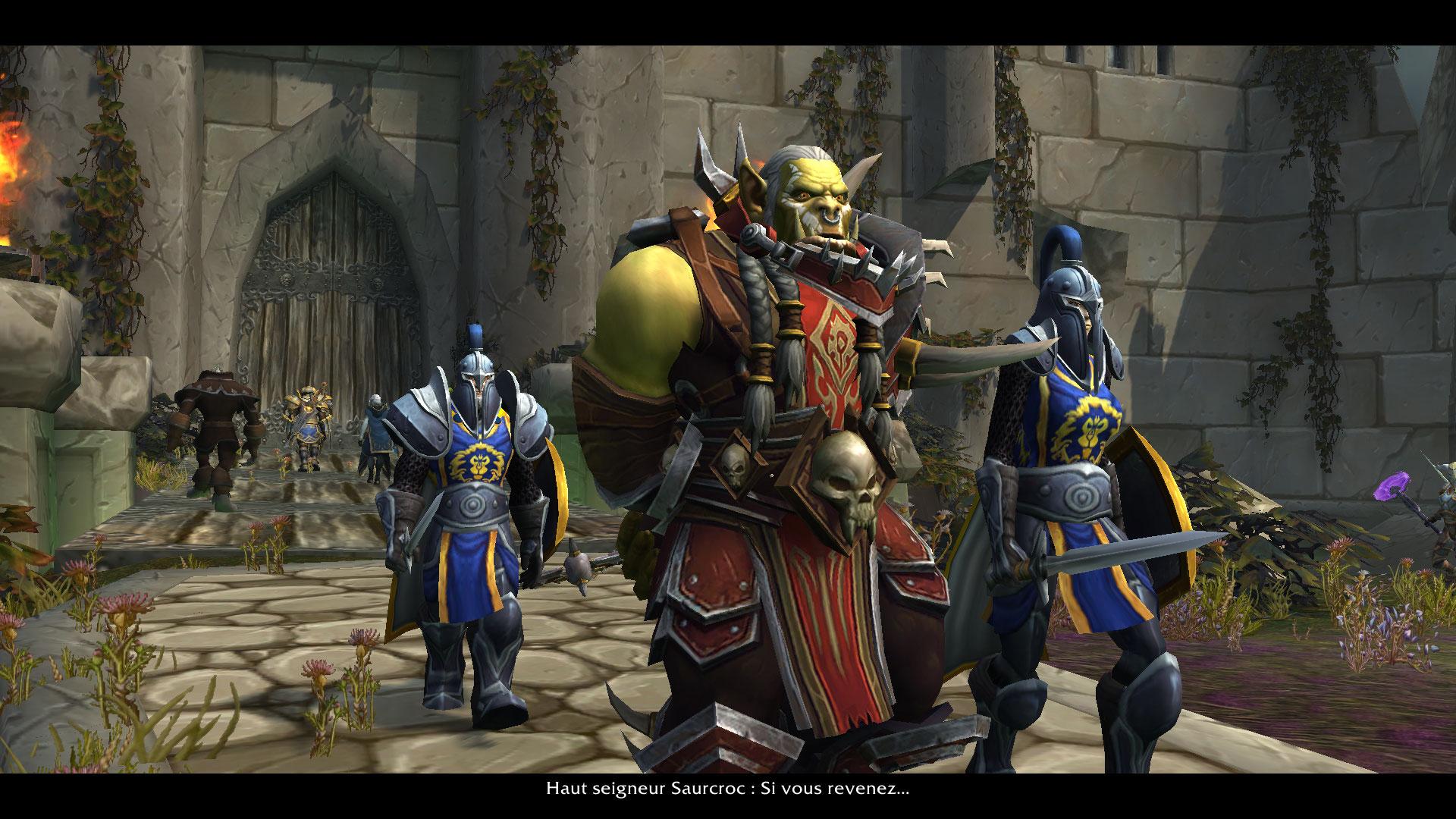 Saurcroc est arrêté par les troupes de l'Alliance