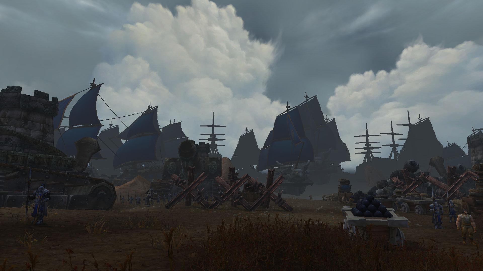 Les forces de l'Alliance débarquent au Nord des clairières de Tirisfal