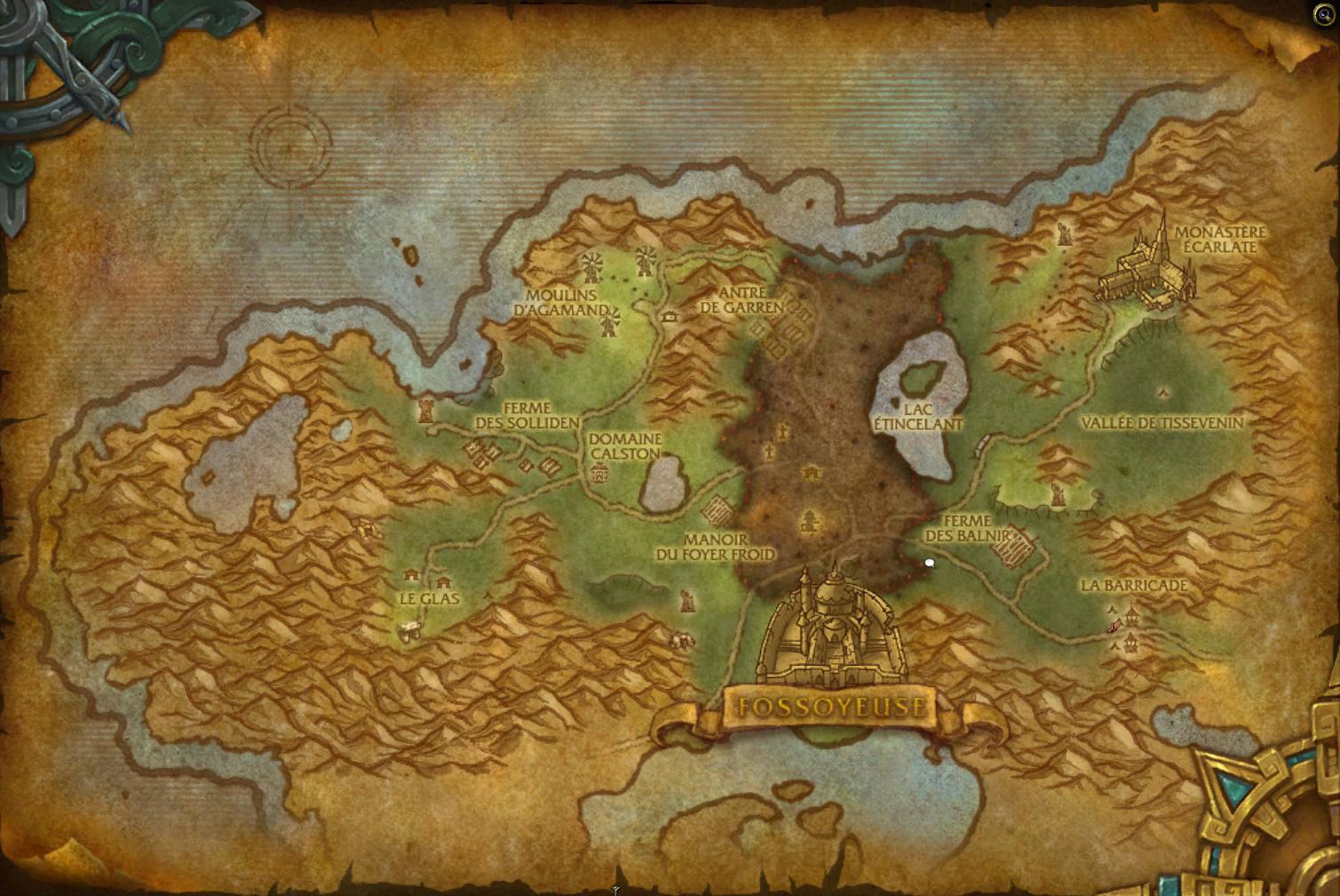 Carte des clairières de Tirisfal