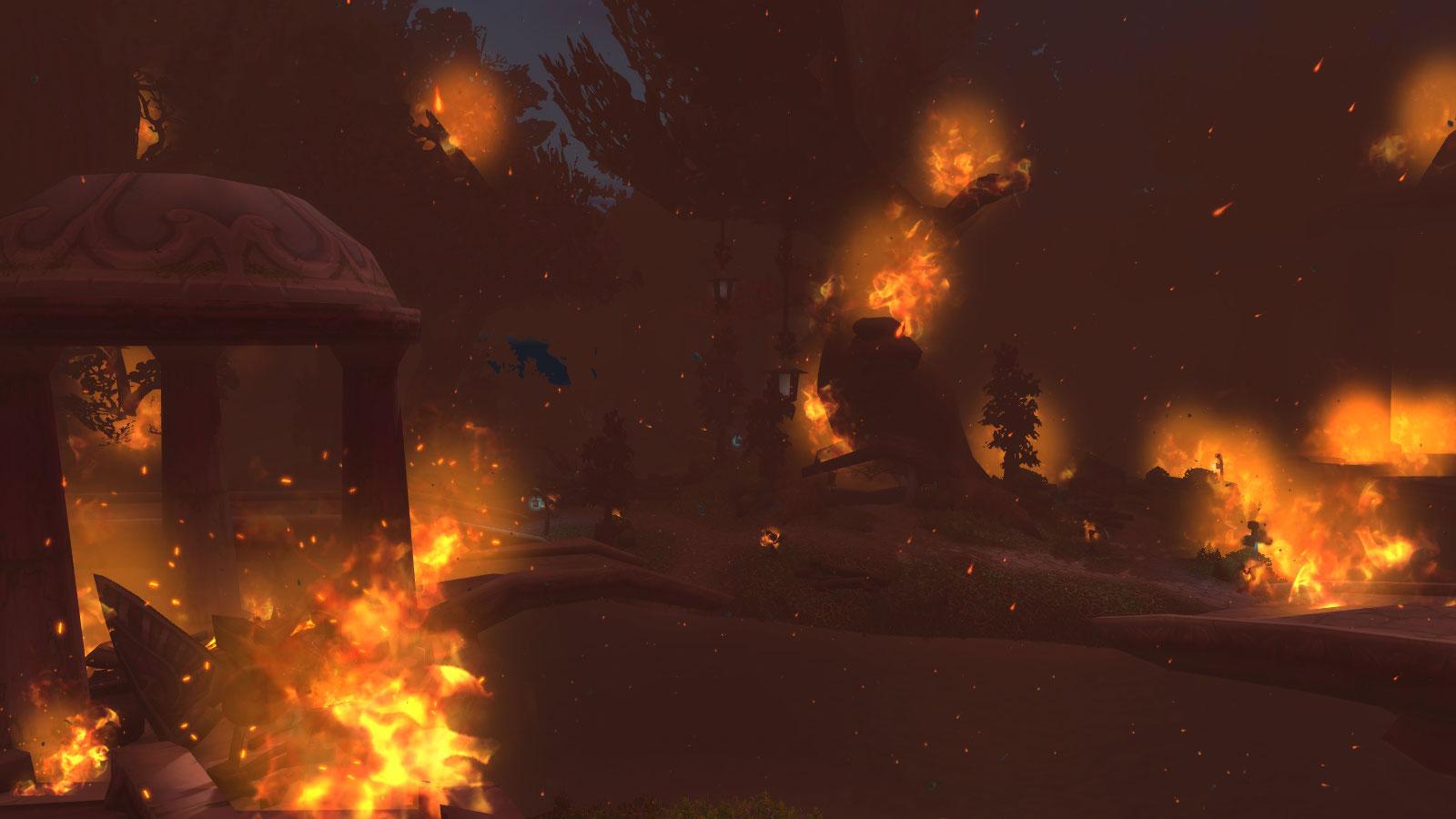 Darnassus est recouvert par un nuage de cendres