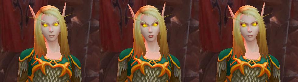 Nouveaux visages Elfe de sang femme - Yeux dorés