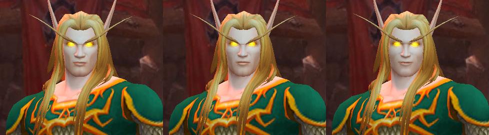 Nouveaux visages Elfe de sang homme - Yeux dorés