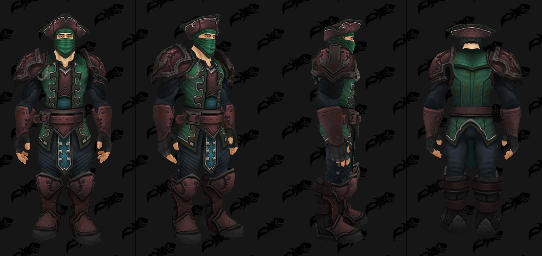 Set d'armure de donjon en cuir de Kul Tiras - Coloris 1
