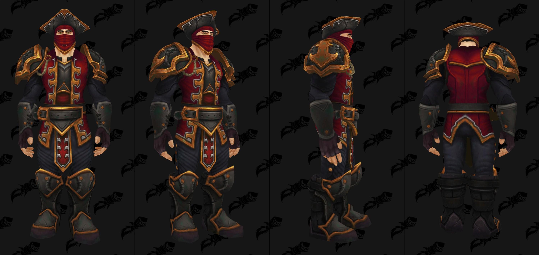 Set d'armure de donjon en cuir de Kul Tiras - Coloris 3