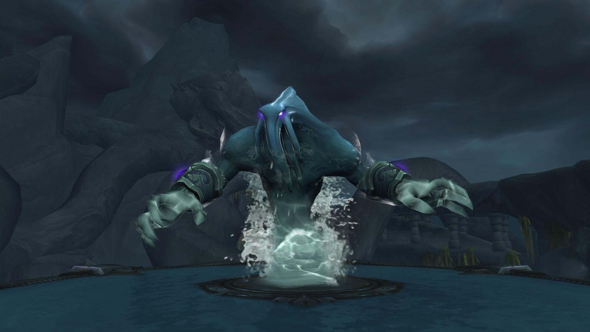 Aqua'sire est un élémentaire d'eau corrompu invoqué par le seigneur Chantorage