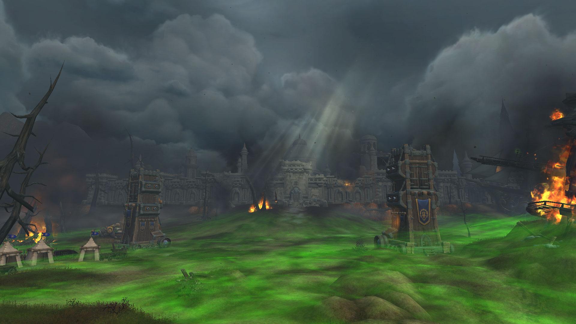 Les ruines de Lordaeron dévastées par la guerre et la peste