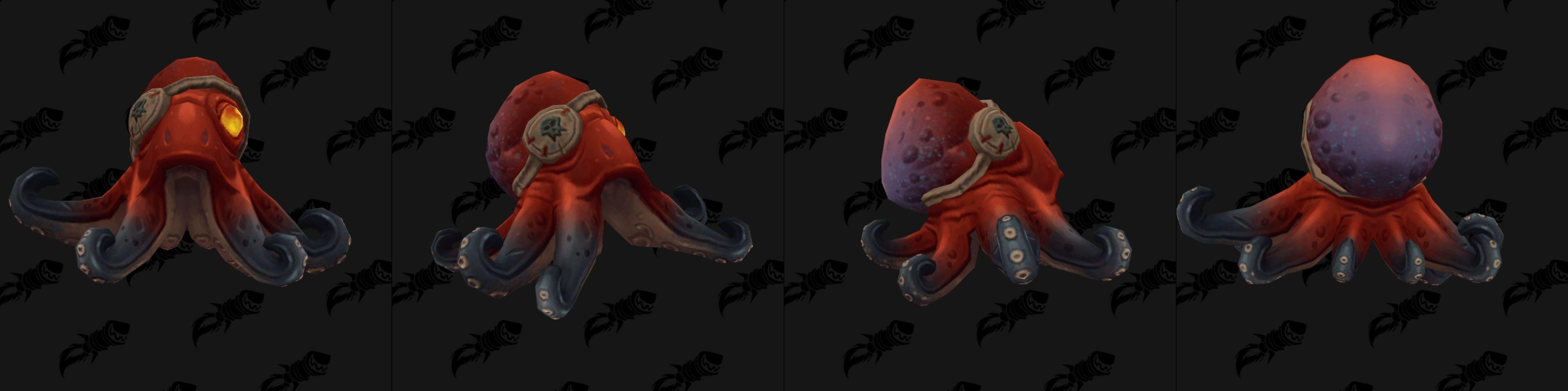 Bébé pieuvre dans Battle for Azeroth coloris rouge