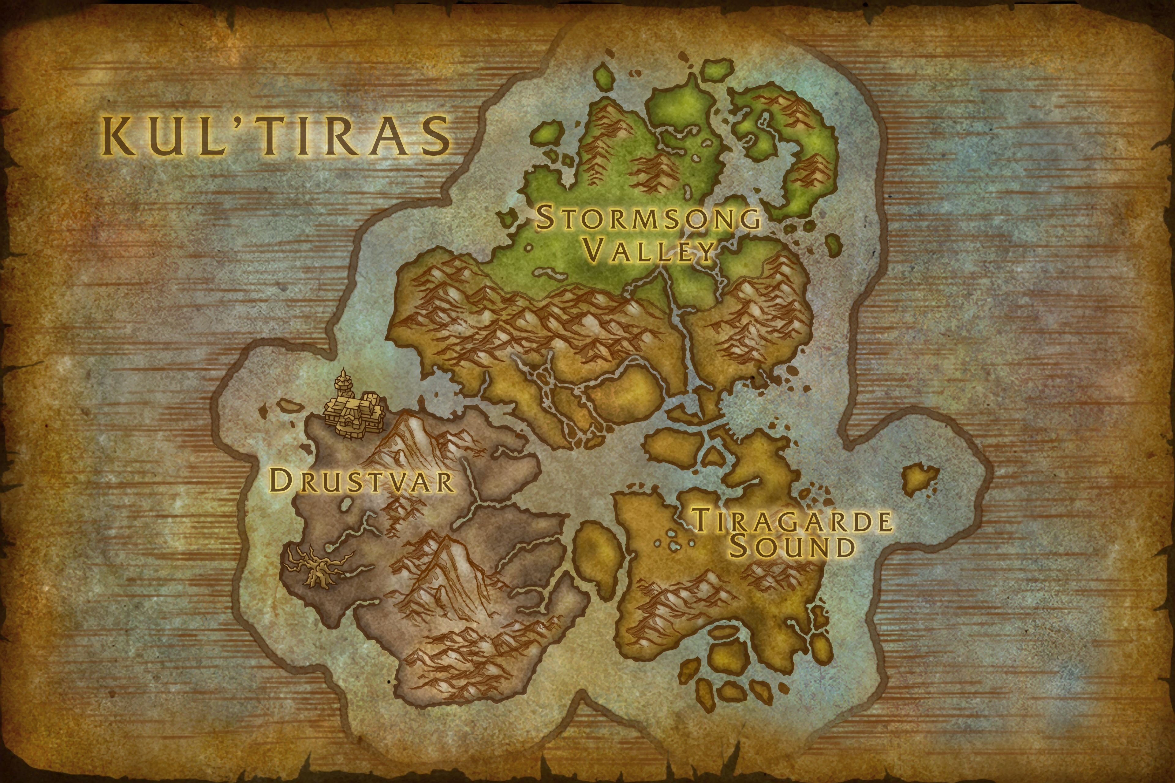 Carte de Kul Tiras dans Battle for Azeroth