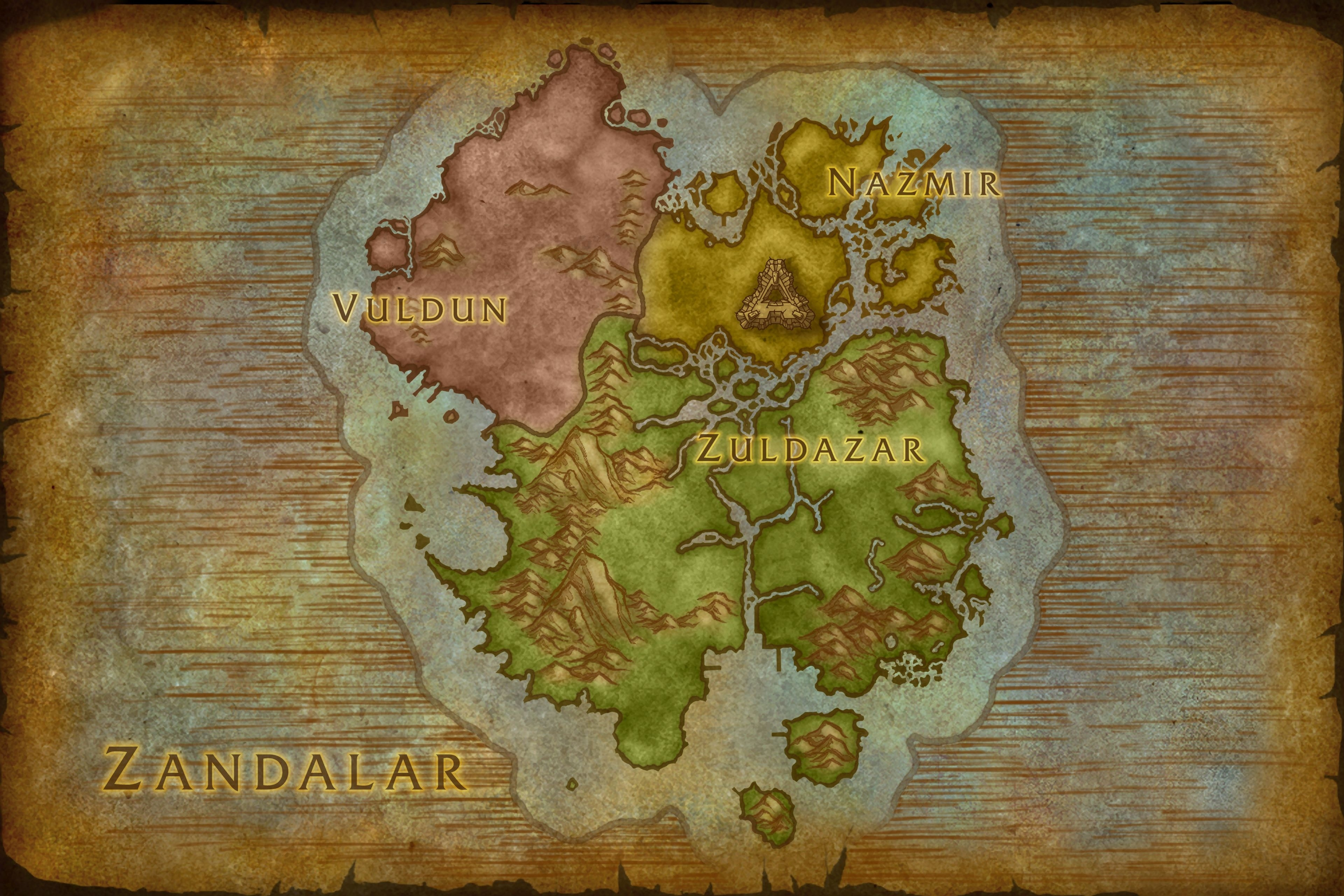 Carte de Zandalar dans Battle for Azeroth