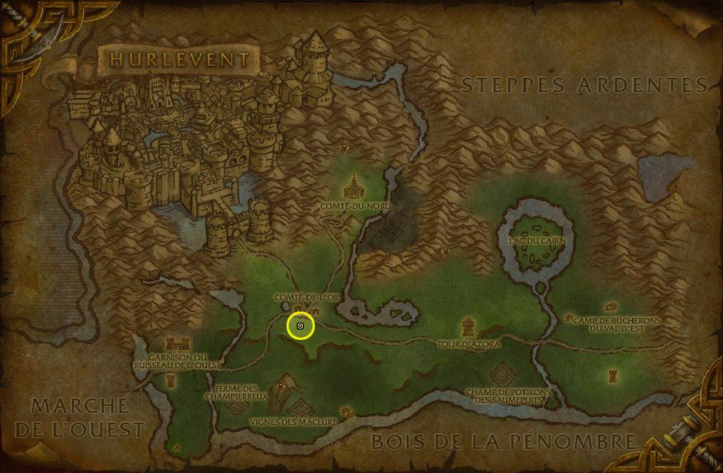 Accès Alliance dans la Forêt d'Elwynn